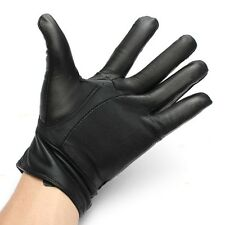 Premium Leather Motorcycle Motorbike Biker Riding Winter Coral Fleece Warm Glove
