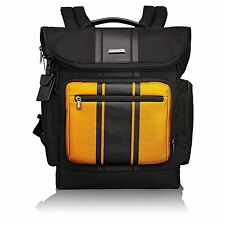 MINI by Tumi 68802 2 in1 Backpack Laptop Bag Removbl Crossbody Tote Black Yellow