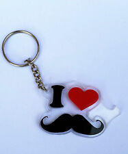 Hindu SIKH Punjabi Word I LOVE MOUSTACHE KEY RING MUSH Key Chain Panjabi GIFT
