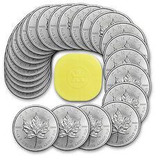 2015 1 oz Silver Canadian Maple Leaf BU (Lot, Roll, Tube of 25) - SKU #87218