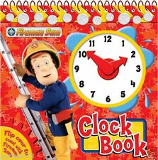FIREMAN SAM CLOCK BOOK WITH MOVING HANDS & STAND NEW LEARN TO TELL THE TIME