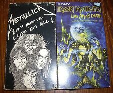 IRON MAIDEN~LIVE AFTER DEATH~Tour 85~Metallica~Cliff Em All~VHS Tapes