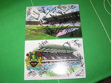 2 x Different Burnley FC 2013/14 Promotion Squad Signed Stadium Photographs
