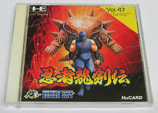 Ninja Gaiden Ninja Ryukenden PC Engine HuCard GT LT DUO-RX * Brand NEW Sealed *