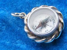 VINTAGE STERLING SILVER CHARM COMPASS