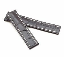 BOB Marino Alligator Deployment Strap for Breitling, 20-22 mm, 4 colors, new!