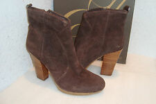 Enzo Angiolini Womens Alessi Dark Brown Leather Boots Shoes 10 MED NEW