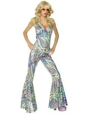 70s 1970s DANCING QUEEN CATSUIT FANCY DRESS COSTUME M 12-14 New by Smiffys