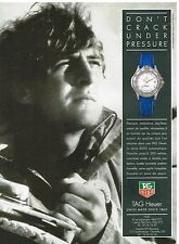 Publicité Advertising 1992 La Montre Tag Heuer Serie 4000 automatique