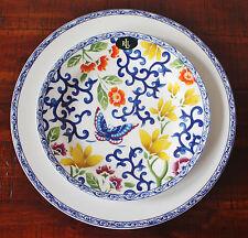 """NEW ~ Ralph Lauren ~ Mandarin Blue ~ Butterfly & Blooms ~ 9"""" Luncheon Plate"""