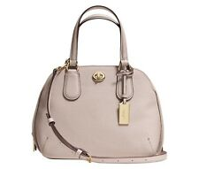 COACH 34940 PRINCE STREET MINI SATCHEL IN CROSSGRAIN LEATHER NWT  GRAY BIRCH