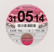Private Car Tax Disc  Honda 31-05-14