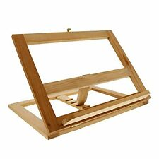 Foldable Book Stand Wood Bookrack Easel Cookbook Holder Adjustable Recipe Gift