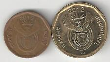 2 DIFFERENT COINS from SOUTH AFRICA - 10 & 20 CENTS (BOTH DATING 2012)