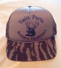 Mesh Snapback Trucker Cap Camo Twin Ports Archery Outfitters Adjustable Size New