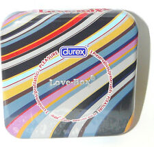 Durex Condoms - Love Box - Coloured Stripy Tin