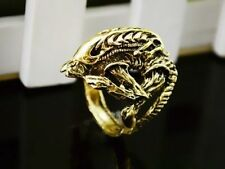 ALIEN VS PREDATOR Gold Ring ALIENS Cosplay AVP ARNOLD RIPLEY HICKS Size 12
