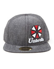 OFFICIAL RESIDENT EVIL UMBRELLA LOGO GREY SNAPBACK CAP (BRAND NEW)