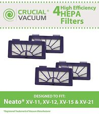 4 Neato Vacuum Pet & Allergy Filters Fit XV-11, XV-12, XV-15, XV-21 NEW