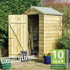 NEW PRESSURE TREATED 4 x 3 FT 4x3 4x3FT T&G SHIPLAP SMALL WOODEN GARDEN SHED