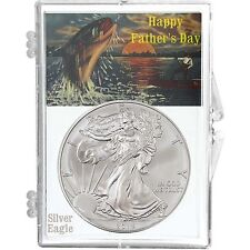 2016 Silver American Eagle (SAE) BU in Happy Fathers Day Snaplock