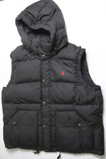 New Polo Ralph Lauren Black Small Red Pony Puffer Vest Hoodie XL XLarge