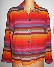 Dont' Mess With Texas S Cotton Striped Mexican Blanket Style Jacket Southwestern