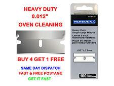 """100 PERSONNA 61-0121 SINGLE EDGE RAZOR SCRAPER BLADES 0.012"""" - For Oven Cleaning"""