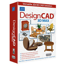 DesignCAD 3D Max v 25 CAD Design Software New.