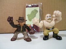 LOT OF 2 INDIANA JONES ADVENTURE HEROES FIGURES INDIANA GERMAN MECHANIC HASBRO
