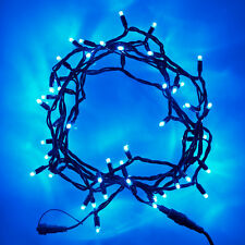 100 Blue LED Christmas Xmas Party Wedding Black String Fairy Night  Lights 10M