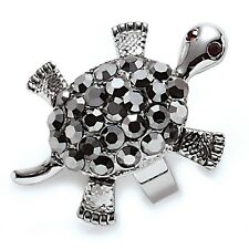"Park Lane ""SNAPPY"" TURTLE RING - Hematite Crystals - Orig.$67 - sz 6  Movable!"