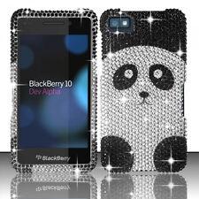 For BlackBerry Z10 Crystal Diamond BLING Hard Case Phone Cover Panda