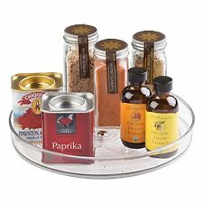 mDesign Lazy Susan Turntable Spice Organizer for Kitchen Pantry, Cabinet, Cou...