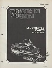 1978 ARCTIC CAT SNOWMOBILE CHEETAH 5000 P/N 0185-103 PARTS MANUAL (058)