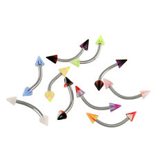 Cool 10pcs Stripes Eyebrow Bars Piercing Barbell Body Jewelley Stainless Steel