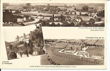 Vtg pc advertising Fry's Chocolate; A corner of Somerdale and Aerial View