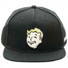 OFFICIAL FALLOUT 4 VAULT BOY WINK FACE 'VAILT-TEC' BLACK SNAPBACK CAP (NEW)