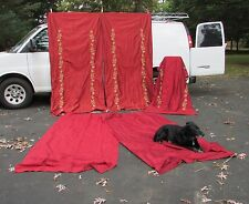 Group of Large Silk and Needlework Drapes by Silk Trading Co. Vintage