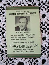 Advertising Calendar Card 1953 Denver Rog Rogers Personal Loans Corp S. Broadway