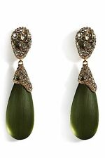 RARE Alexis Bittar Double Drop Lucite Crystal Earrings $300