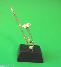 TROMBONE -   miniature mounted on base - stand