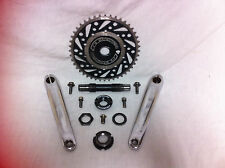 GT RACING CR-MO THREE PIECE CRANKS Mid School BMX Mach One Interceptor 3 Old