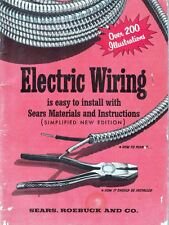 1955 Electric Wiring is Easy to Install w/ Sears Materials & Instructions Vintag