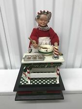 Vintage 1993 Mrs Claus Animated Musical Making Christmas Cookies