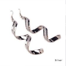 Delicate Women Twist Spiral Eardrops Lady Girl Dangle Hook Earrings Jewelry