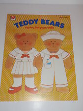 VINTAGE TEDDY BEARS  PAPER DOLL BOOK    **MINT**UNUSED**