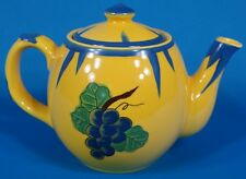 Rare Haldon Group Soleil Mcmlxxx Yellow and Blue Tea Pot