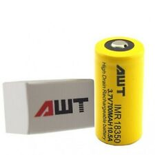 AWT IMR 18350 10.5A 800mAh 3.7v Rechargeable Flat Top Battery FREE SHIPPING