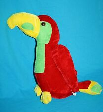 """Play Time Toys Red Green Yellow Plush PARROT BIRD 12"""" Stuffed Animal Soft Toy"""